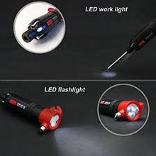 Load image into Gallery viewer, 6 in 1 Emergency Tool - Car Safety Hammer / Led Light / Multi Screwdriver / Window Breaker / Seat belt Cutter