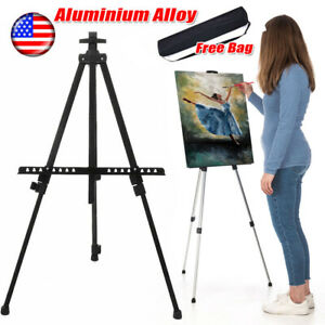 Artist Aluminum Alloy Folding Paint Sketching Easel Adjustable Tripod Display