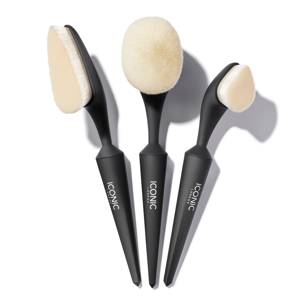 Black EVO Soft Touch Contour and Conceal 3 Brush Set