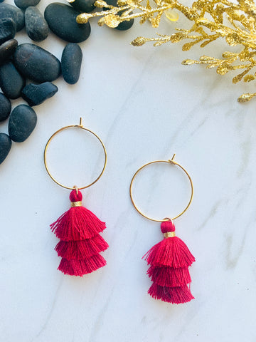 Moon Collection Red Tassels