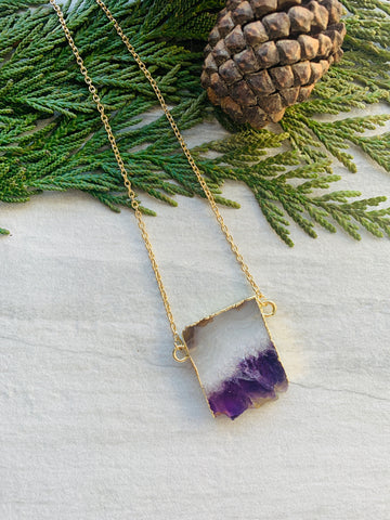 Pine Collection Natural Amethyst Slice