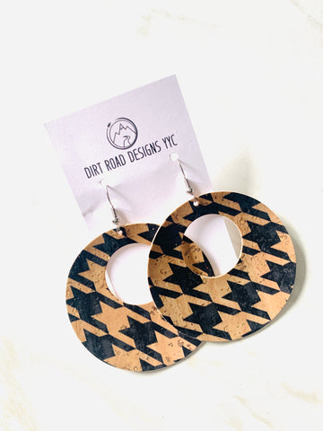 Large Houndstooth Cork Cutouts