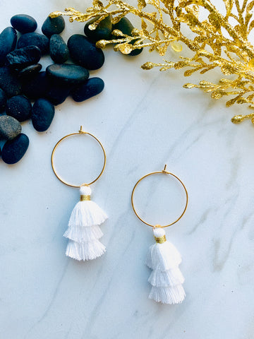 Moon Collection White Tassels