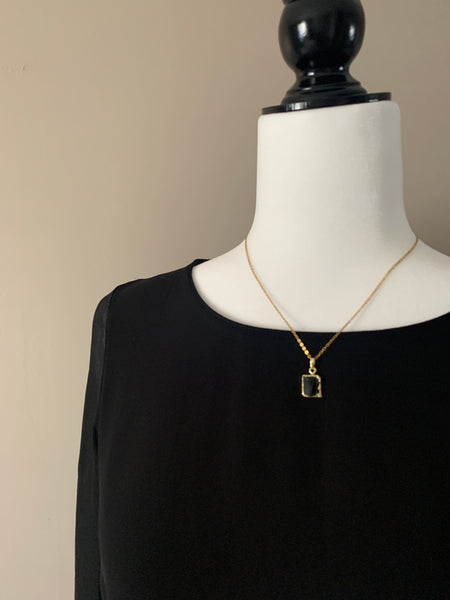 Pine Collection Black Tourmaline Layering Necklace