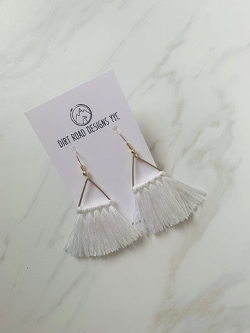 Hand Tied Fringe Earrings