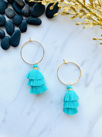Moon Collection Teal Tassels