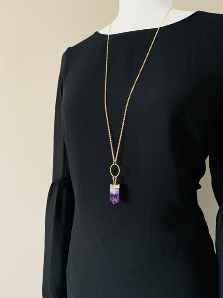 Pine Collection Natural Amethyst Necklace