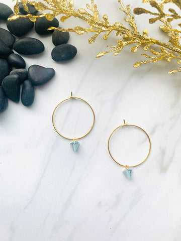 Moon Collection Mint Howlite Hoops