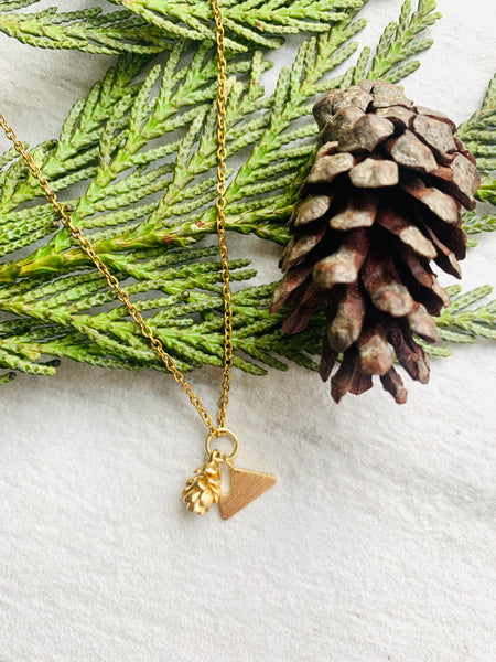 Pine Collection Mountain Love Layering Necklace
