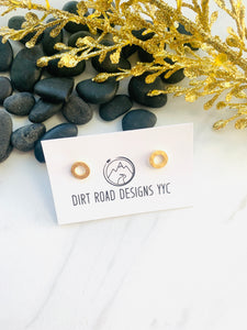 Moon Collection Gold Circle Studs