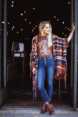 Tribal Knit Poncho