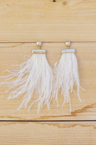 Light as a Feather Earrings White
