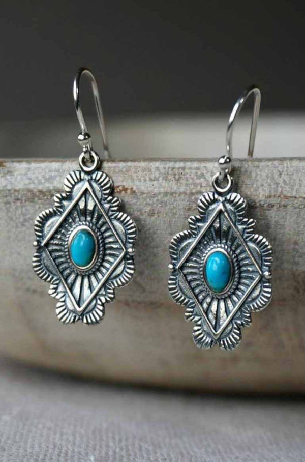 Sterling Silver and Turquoise earrings by Sowell Jewelry