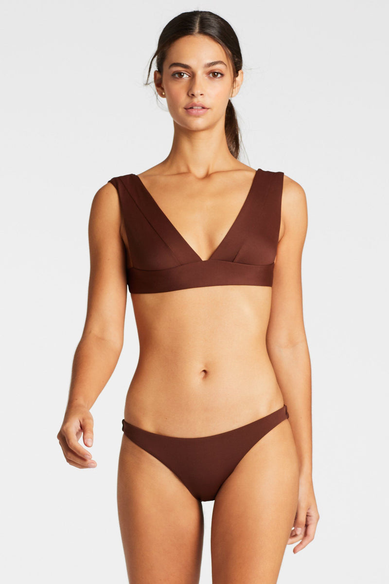 Magnolia V Neck Brown Vitamin A