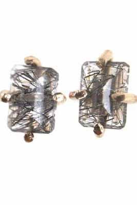 Rutilated Quartz Studs