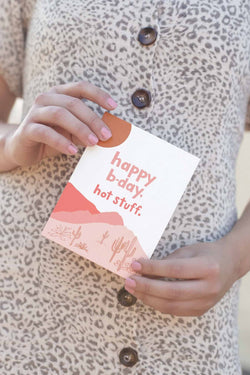 Happy Birth Hot Stuff Card by Odd Daughter Paper Co.