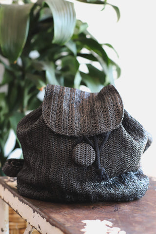 bohemian herringbone woven women's purse backpack