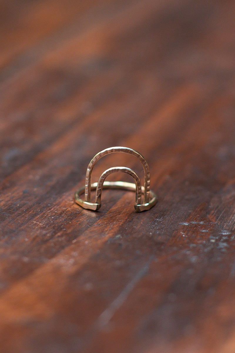 arches gold ring kariella