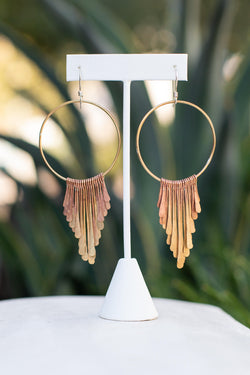 Raegan Hough Metalsmith Fringe Earrings