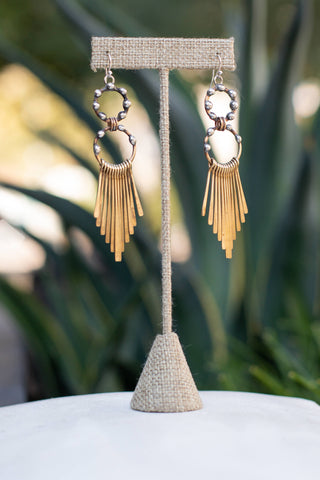 Mikal Winn Hoop Fringe Earrings