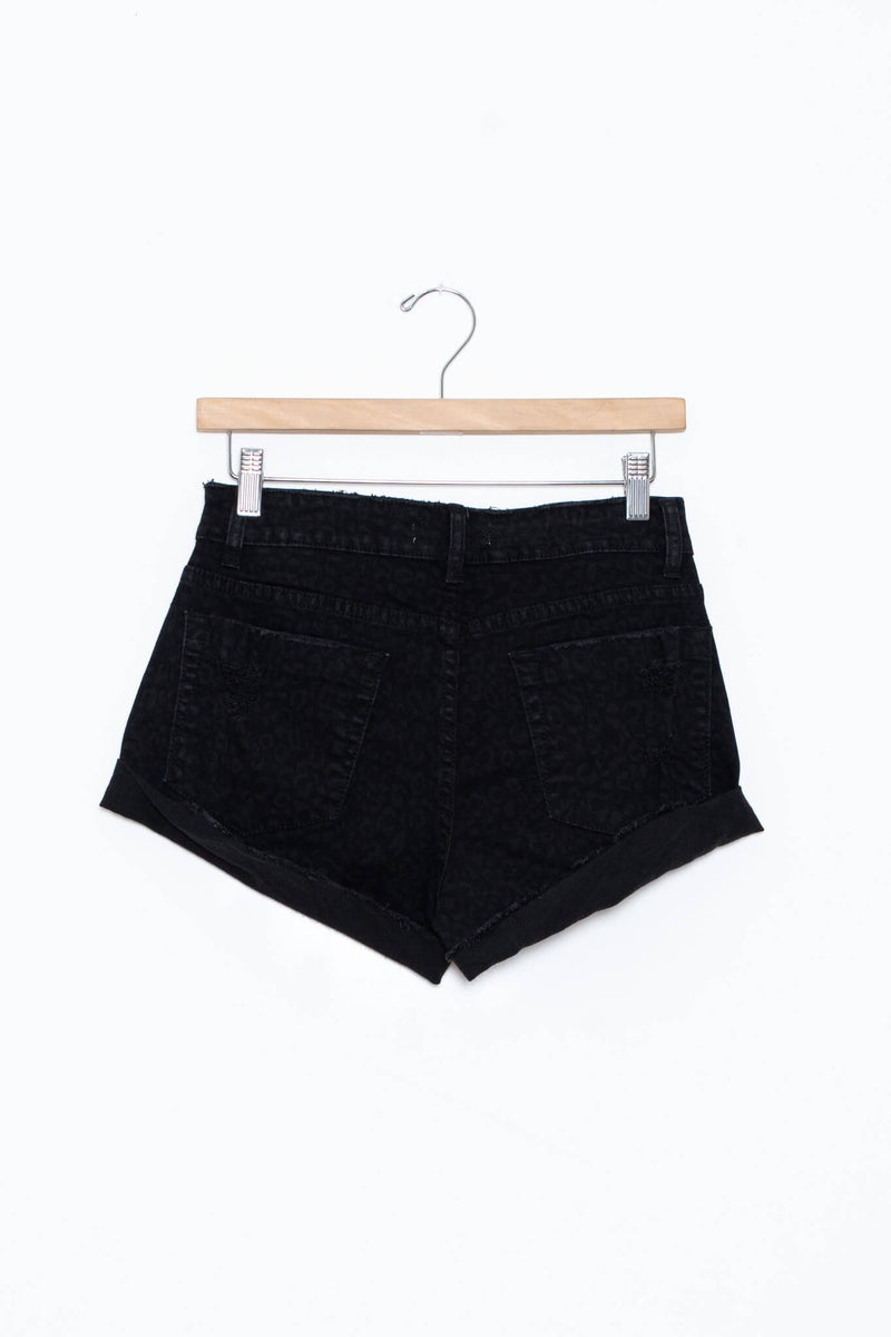 Black High Waisted Shorts by Kariella