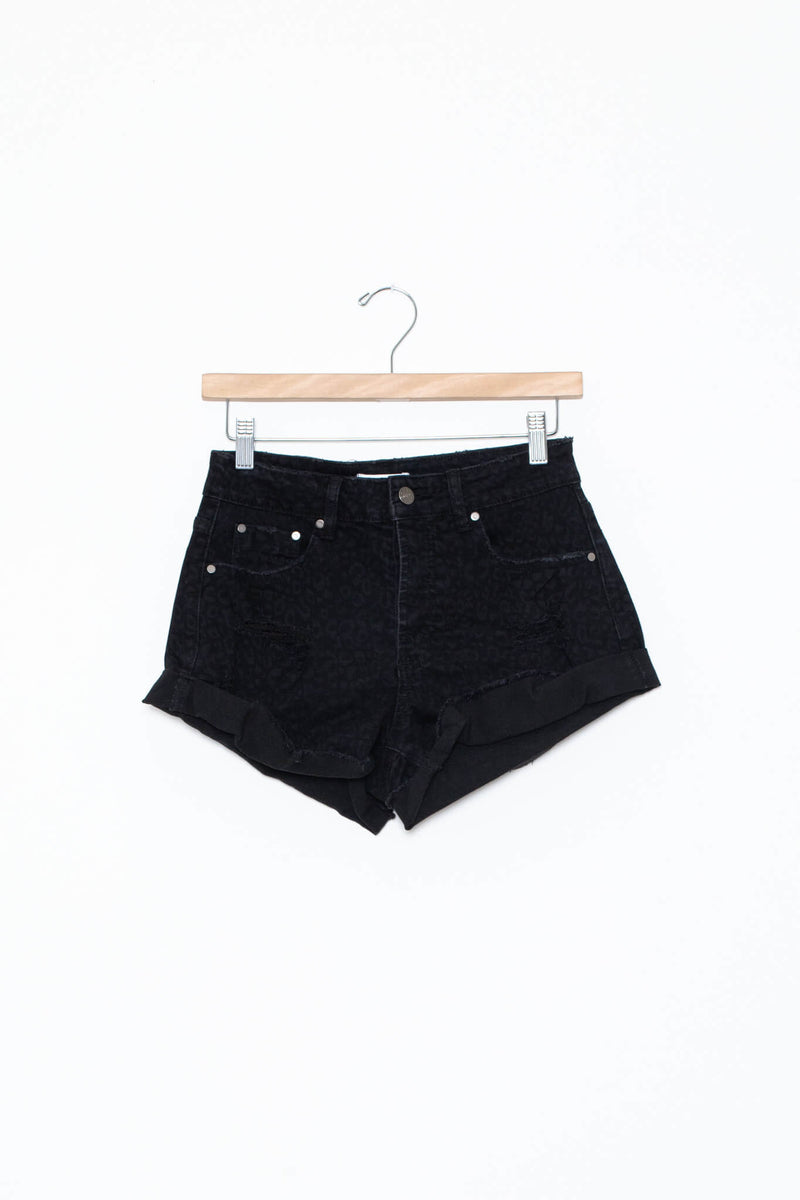 black animal print shorts kariella