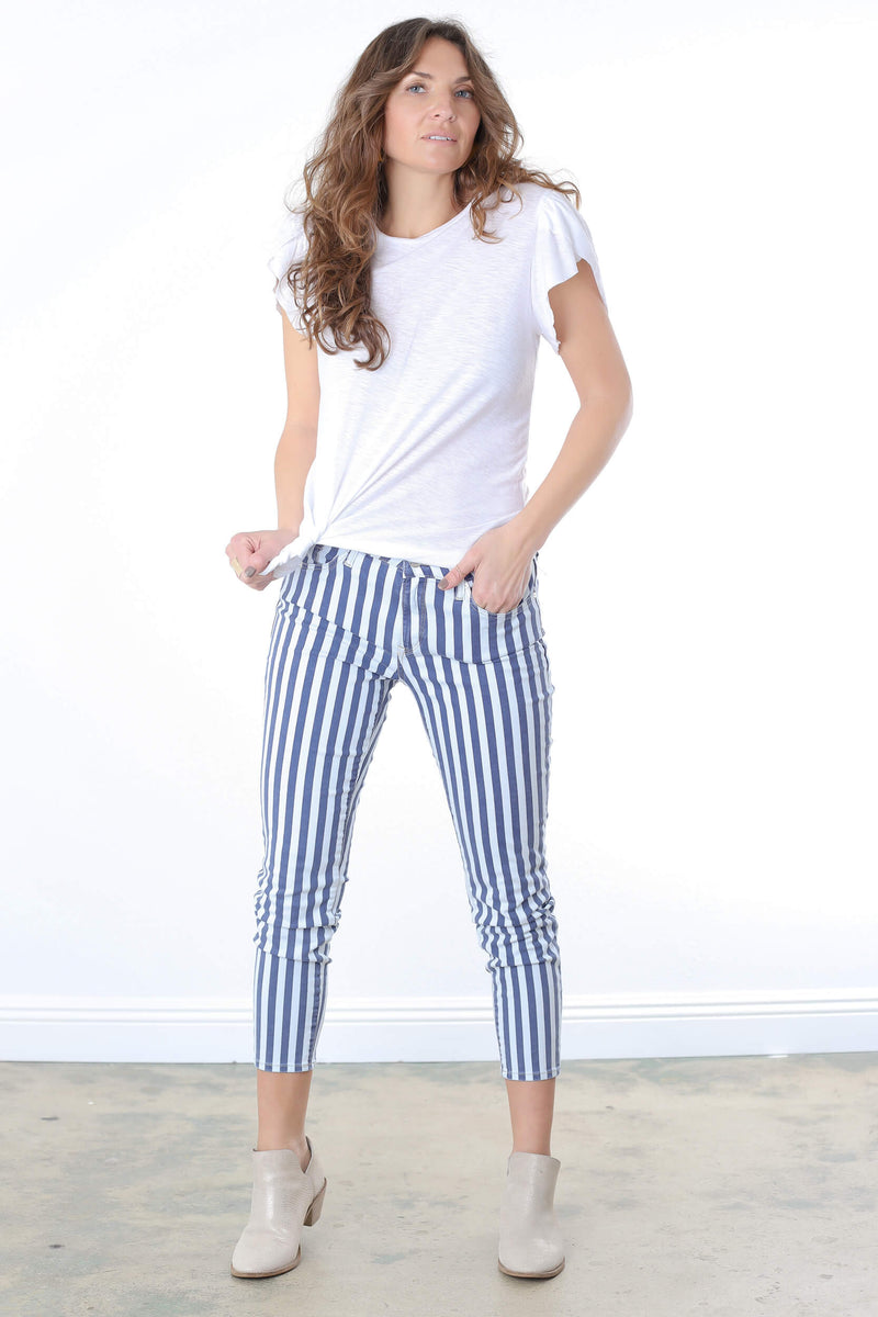 Tess White Stripe