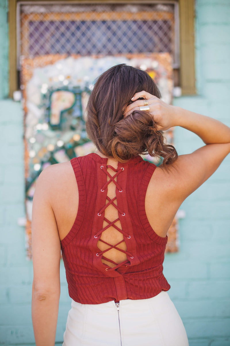 Free People Check It Out Tank Brown