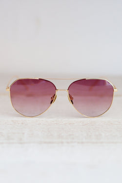 Diff Dash Gold Sunglasses