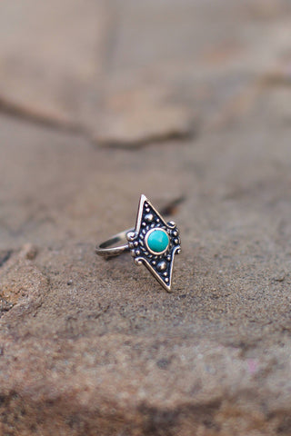Sowell Jewelry Akule Turquoise Ring