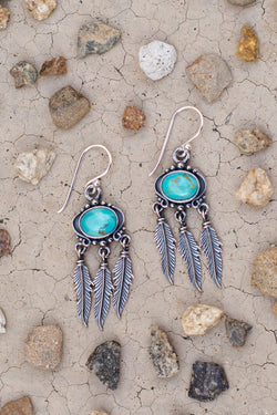Sowell Jewelry Abey Turquoise Fringe Earrings