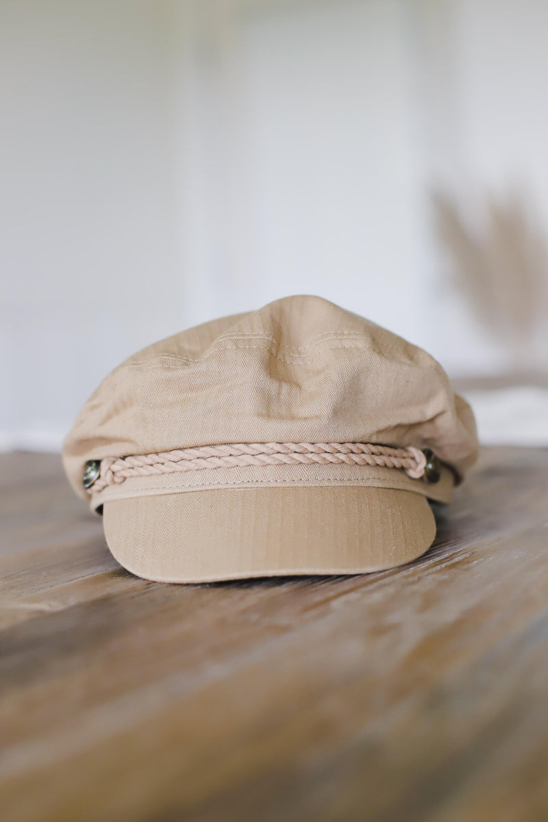 Camel Colored Fisherman Style Cap