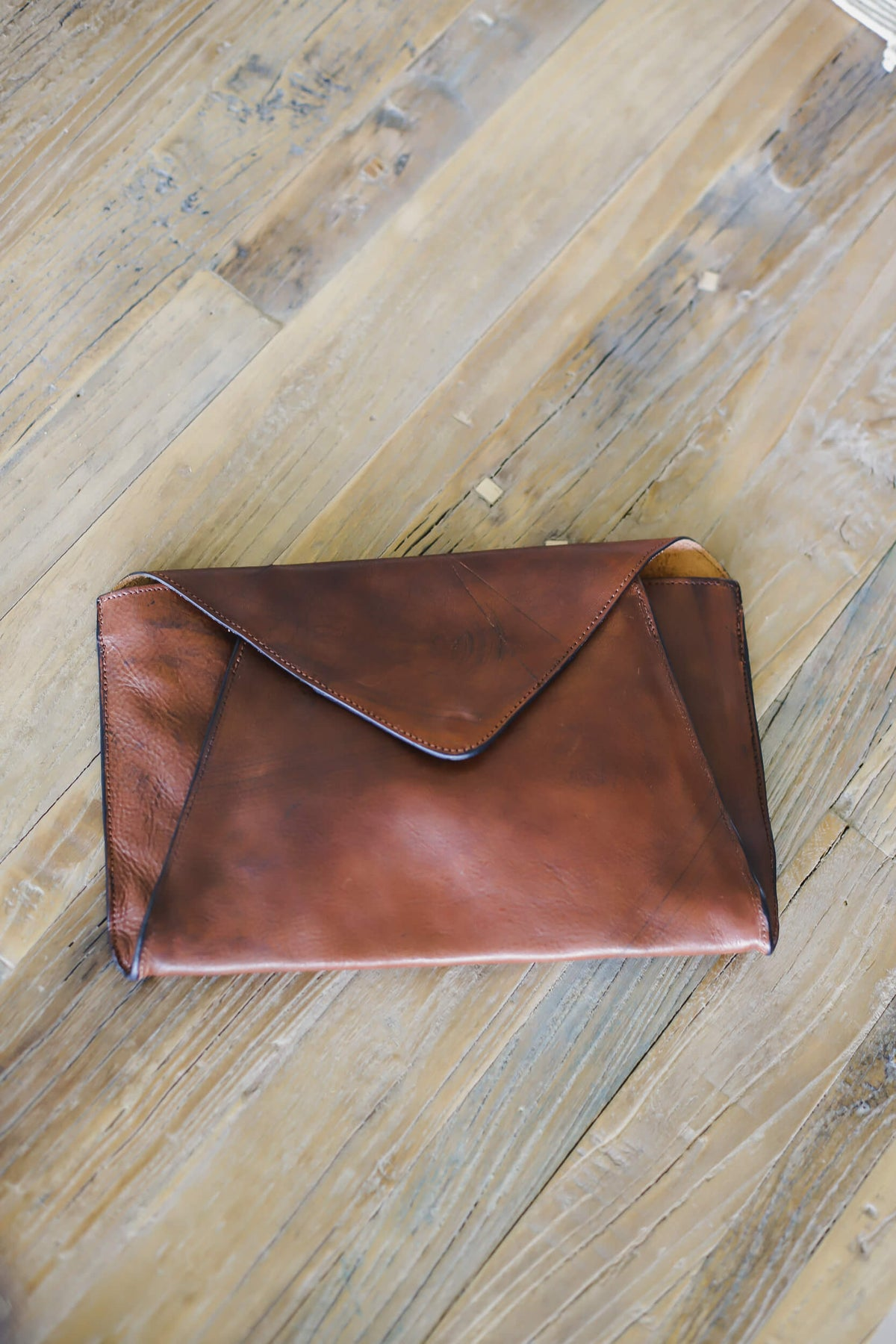 Leather Envelope Clutch Leather Purse