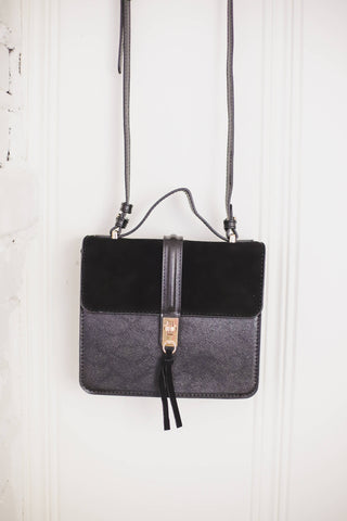 Black buckle bag