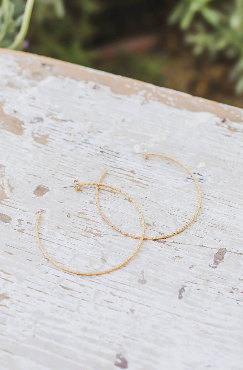 Sparkly Oversized Hoops