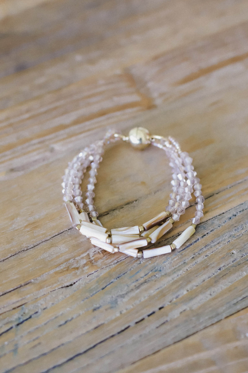 neutral beaded bracelet