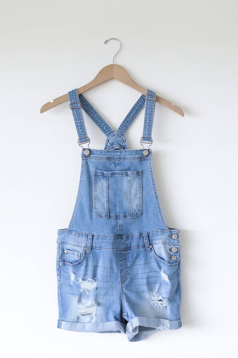 denim short overalls Kariella