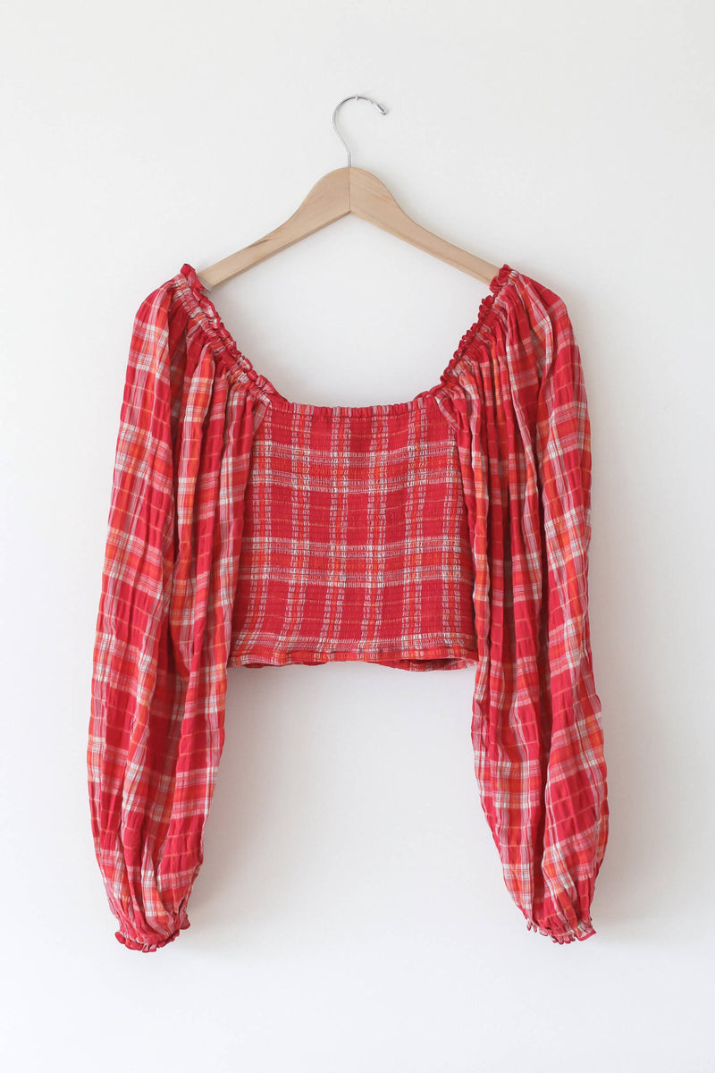 Cherry Madrass Plaid