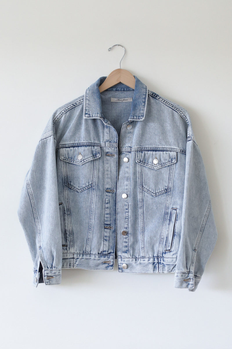 Mavi Acid wash Light denim jacket