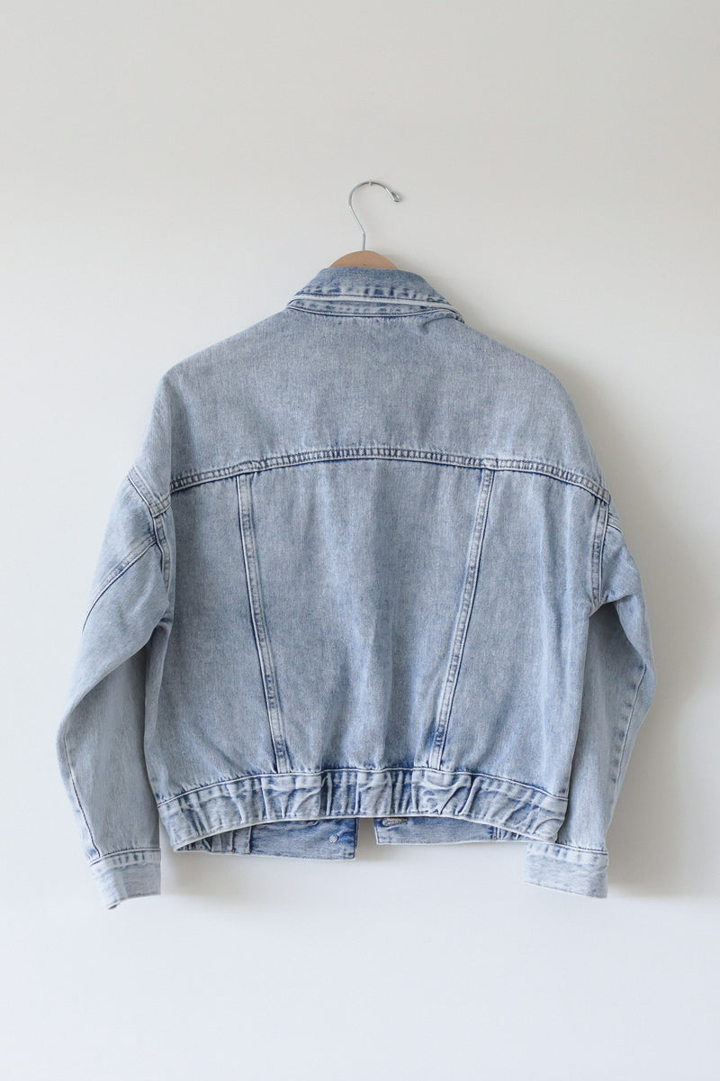 Mavi Acid wash cropped Light denim jacket