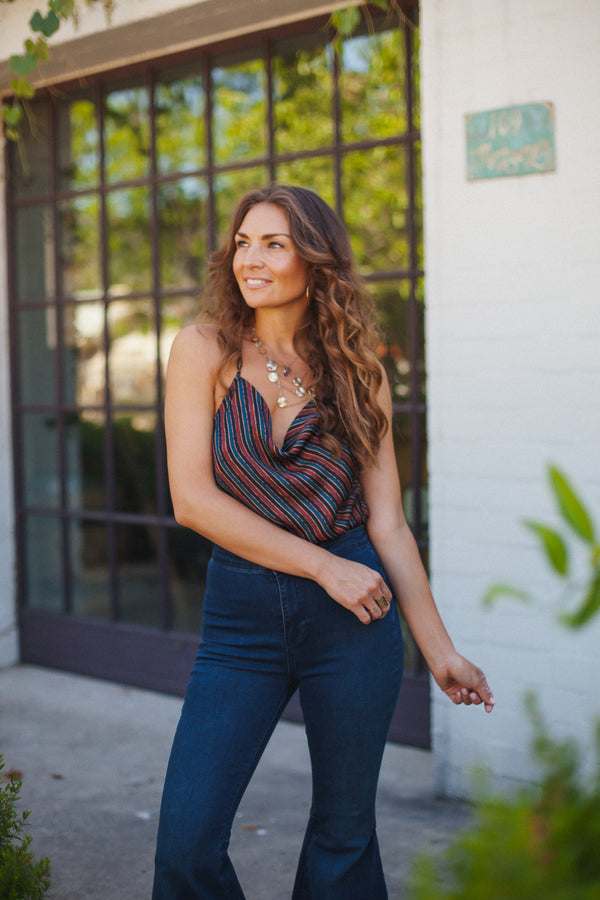 Free People Stevie Cowl Neck Tank