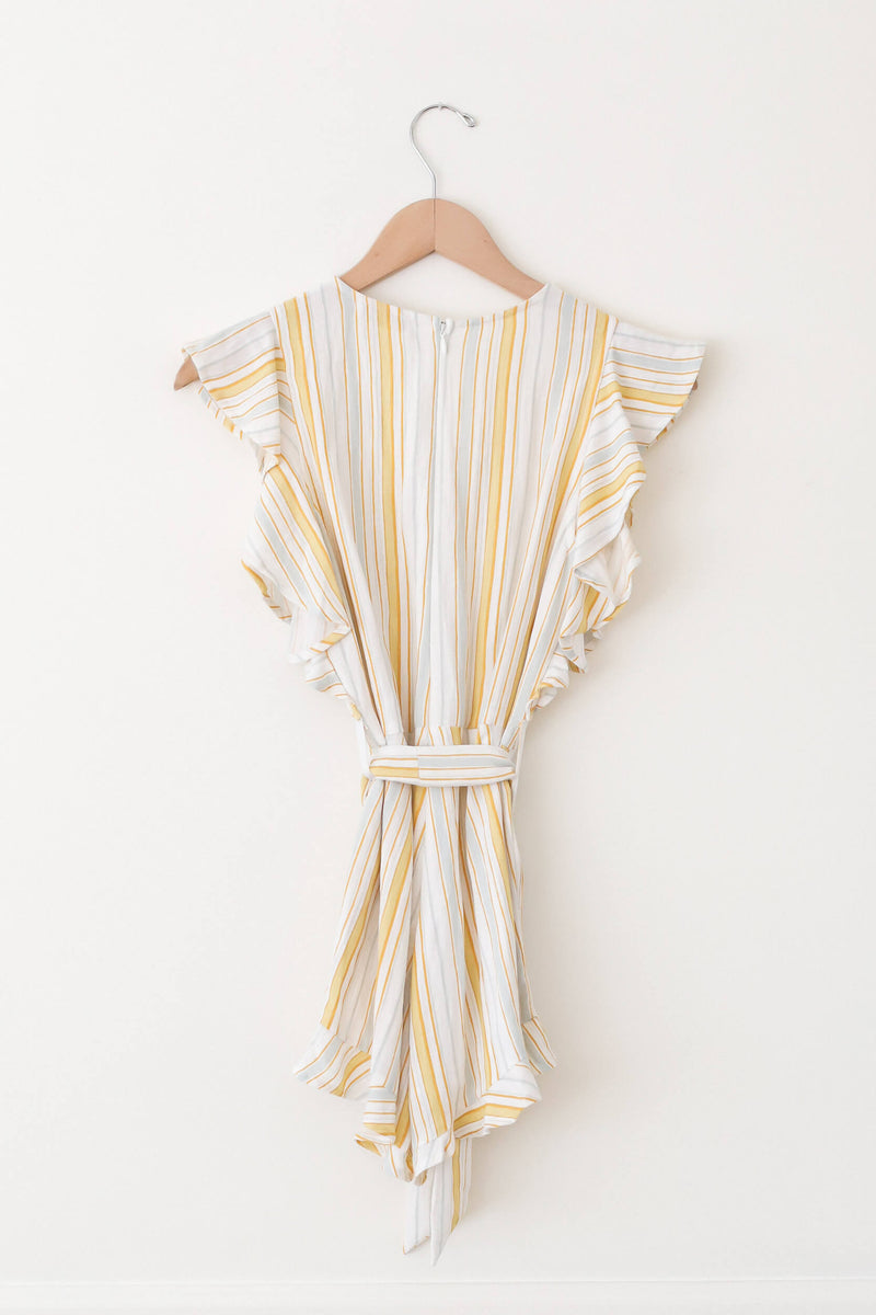 flutter sleeve striped romper