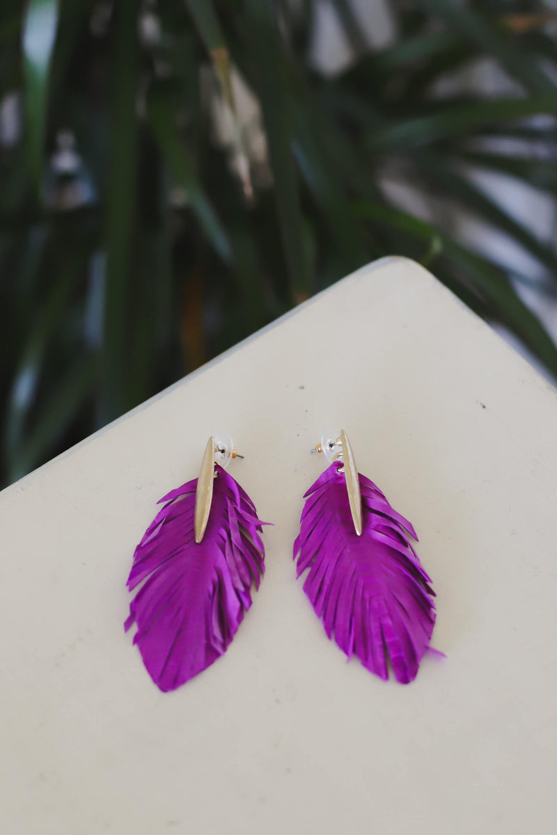 Palm Springs feather earrings