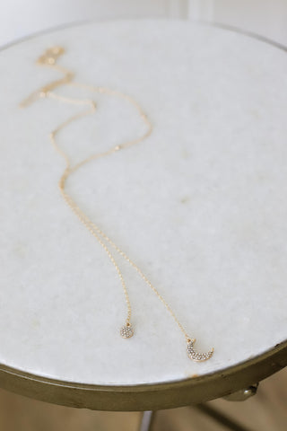 Moon Light Drop Necklace