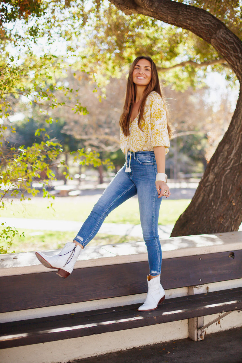 skinny jeans with free people new frontier boots