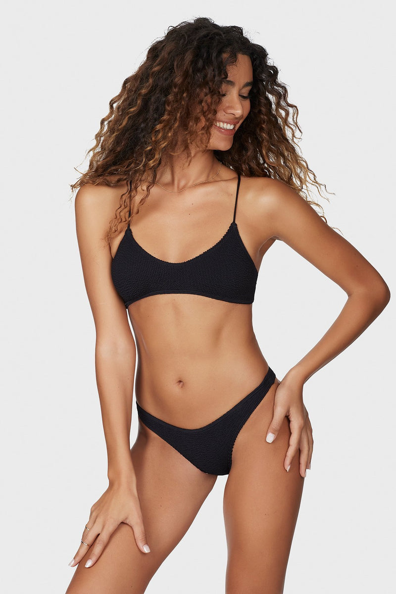 bound black scoop neck bikini