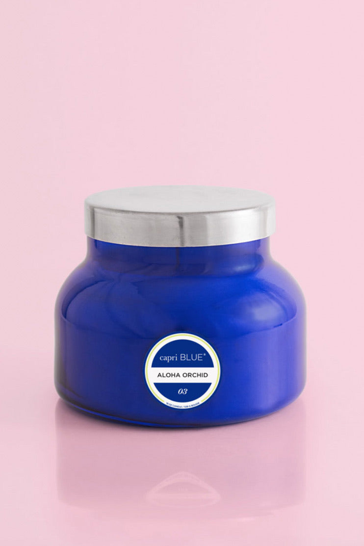 Capri Blue Aloha Orchid Blue Signature Jar 19 oz