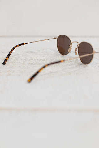 diff levi sunglasses gold