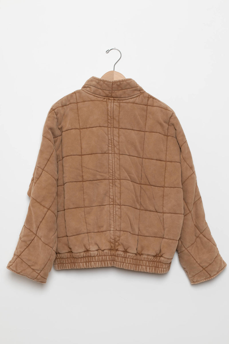 back of free people dolman quilted jacket