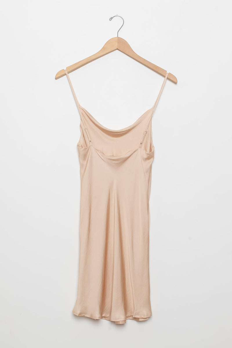 slip dress champagne